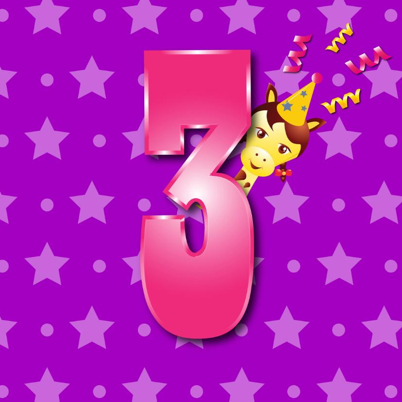 Verjaardagskaarten - meisje3jaar