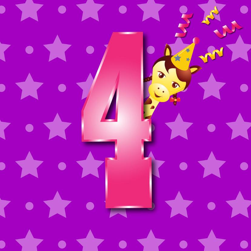 Verjaardagskaarten - meisje4jaar