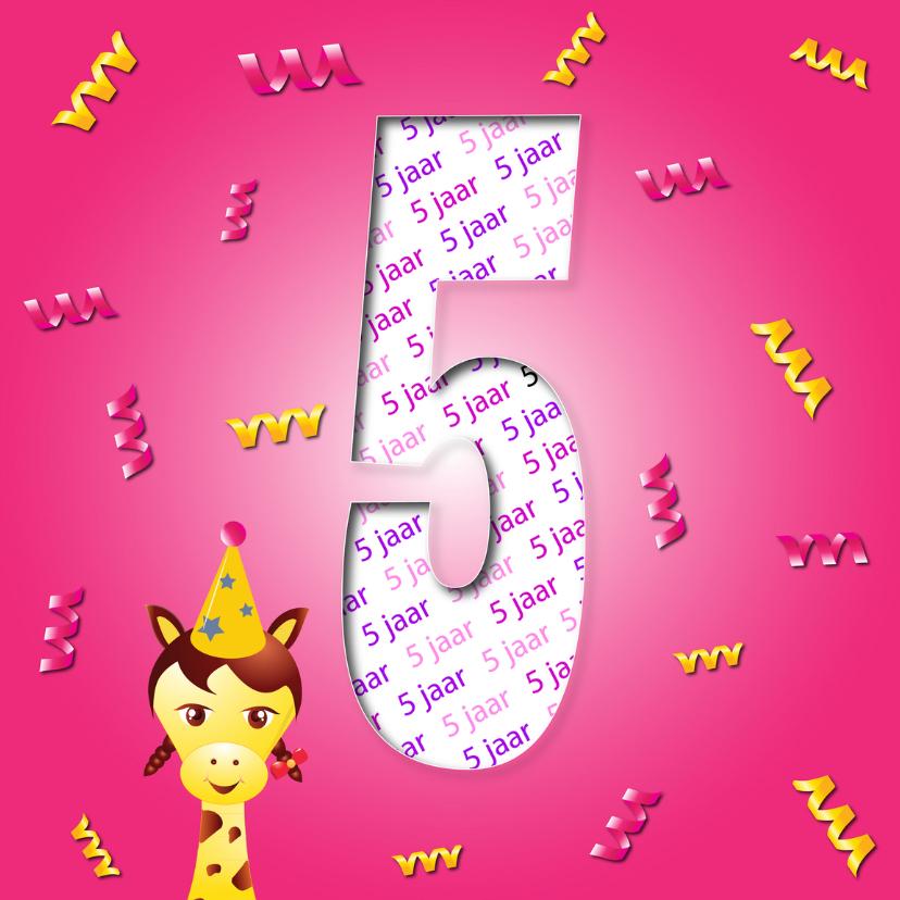 Verjaardagskaarten - meisje5jaar-2