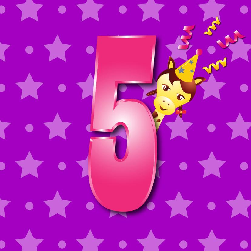 Verjaardagskaarten - meisje5jaar