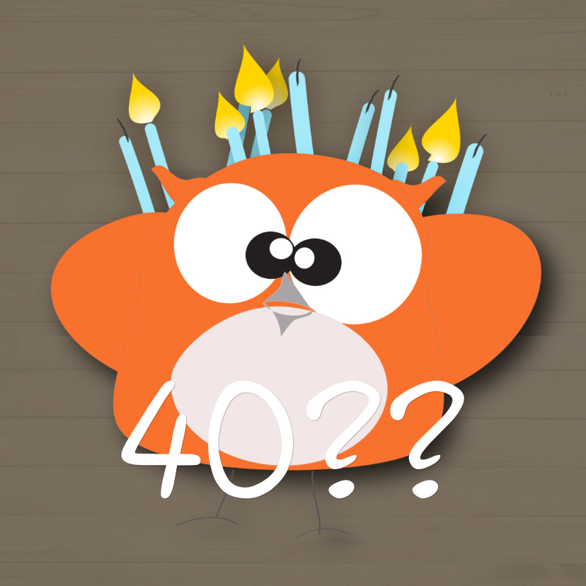 Verjaardagskaarten - Mo Card leeftijd verjaardag kaart ouder