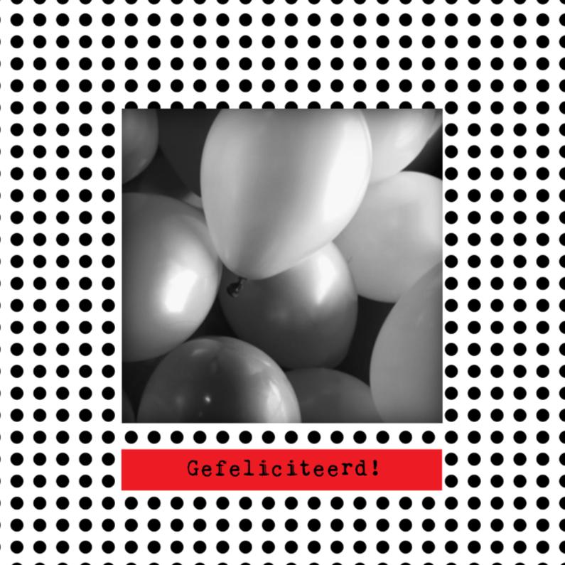 Verjaardagskaarten - Moderne ballonnen kaart