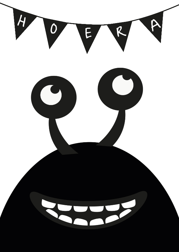 Verjaardagskaarten - Monster verjaardagskaart