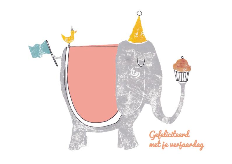 Verjaardagskaarten - Olifant felicitatiekaart