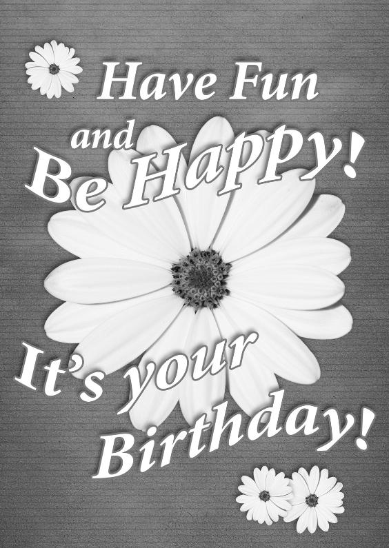 Verjaardagskaarten - oud papier en bloemen vintage b