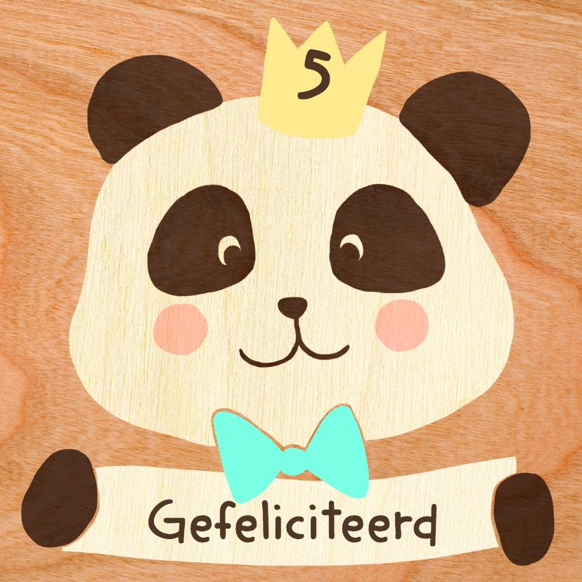 Verjaardagskaarten - Panda gefeliciteerd