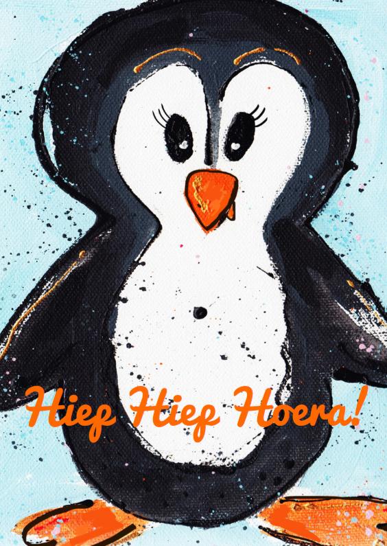 Verjaardagskaarten - Pinguïn verjaardag