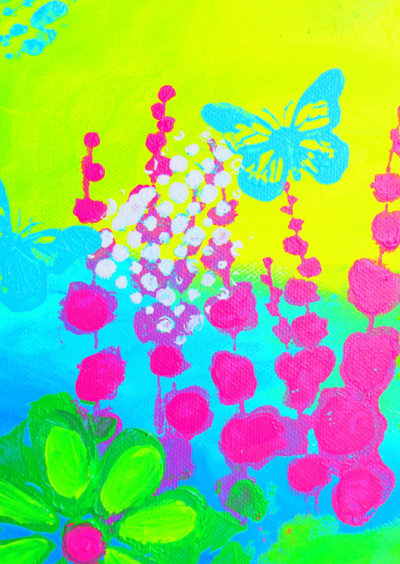 Verjaardagskaarten - Pink Flowers3