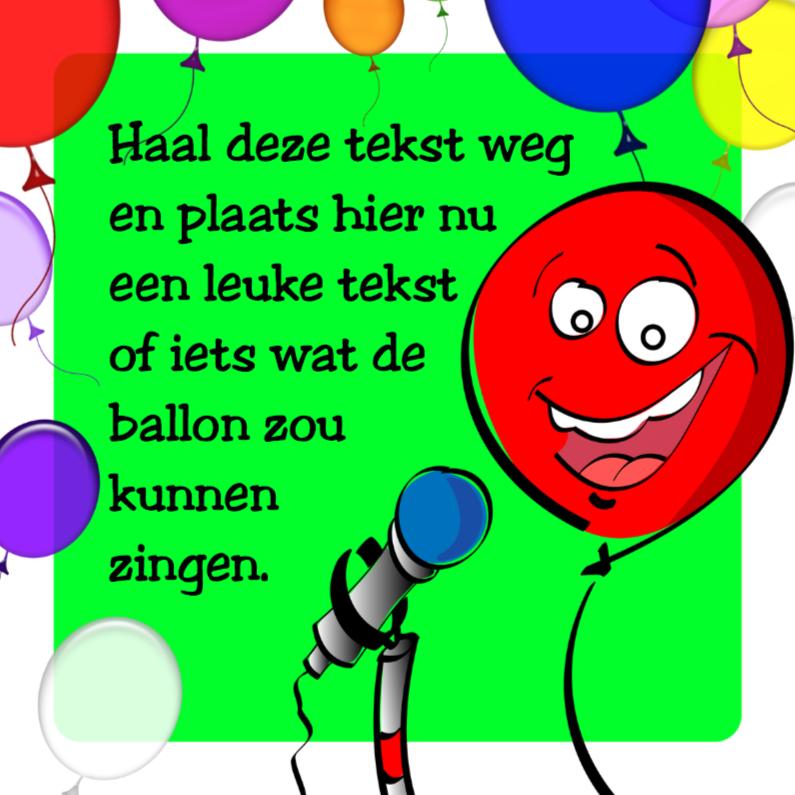 Verjaardagskaarten - pratende ballon zelf afmaken