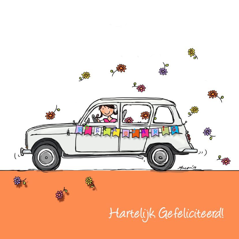 Verjaardagskaarten - Renault 4 Verjaardagskaart