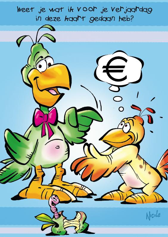 Verjaardagskaarten - rocco verjaardag 19 rocco met euroteken