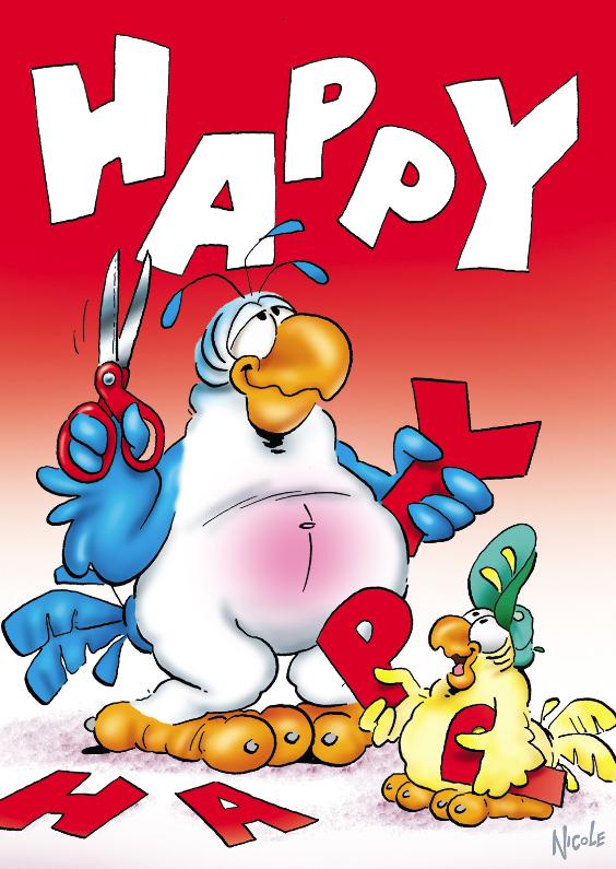 Verjaardagskaarten - rocco verjaardag 5 papegaai happy