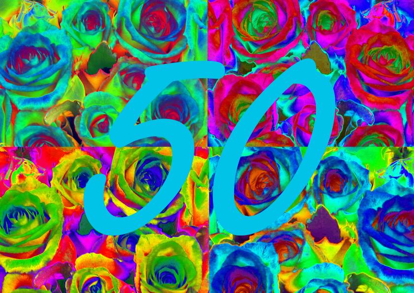 Verjaardagskaarten - rozen collage 50