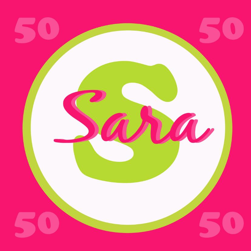 Verjaardagskaarten - Sara 50
