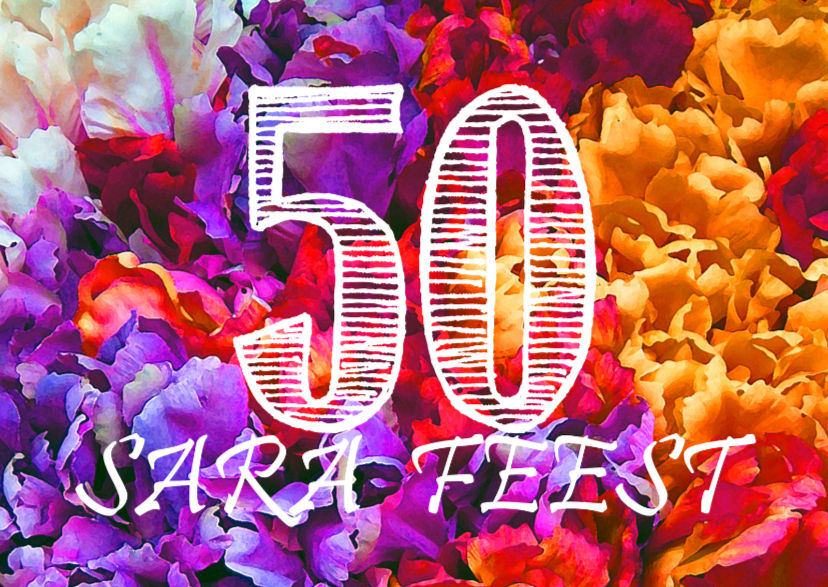 Verjaardagskaarten - SARA-FEEST Tulpencollage
