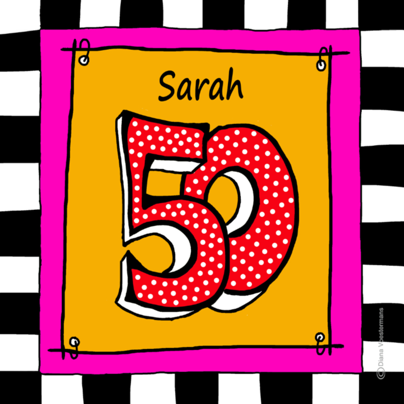 Verjaardagskaarten - Sarah 50 CYL