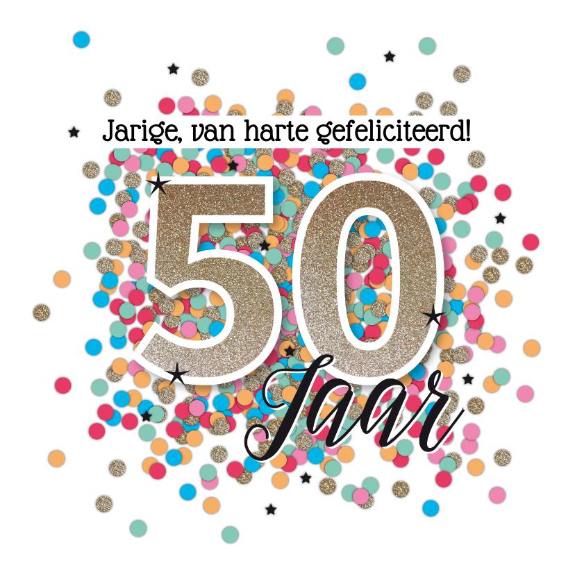 Uitzonderlijk Sarah 50 jaar felicitatie kaart verjaardag | Kaartje2go #YF34