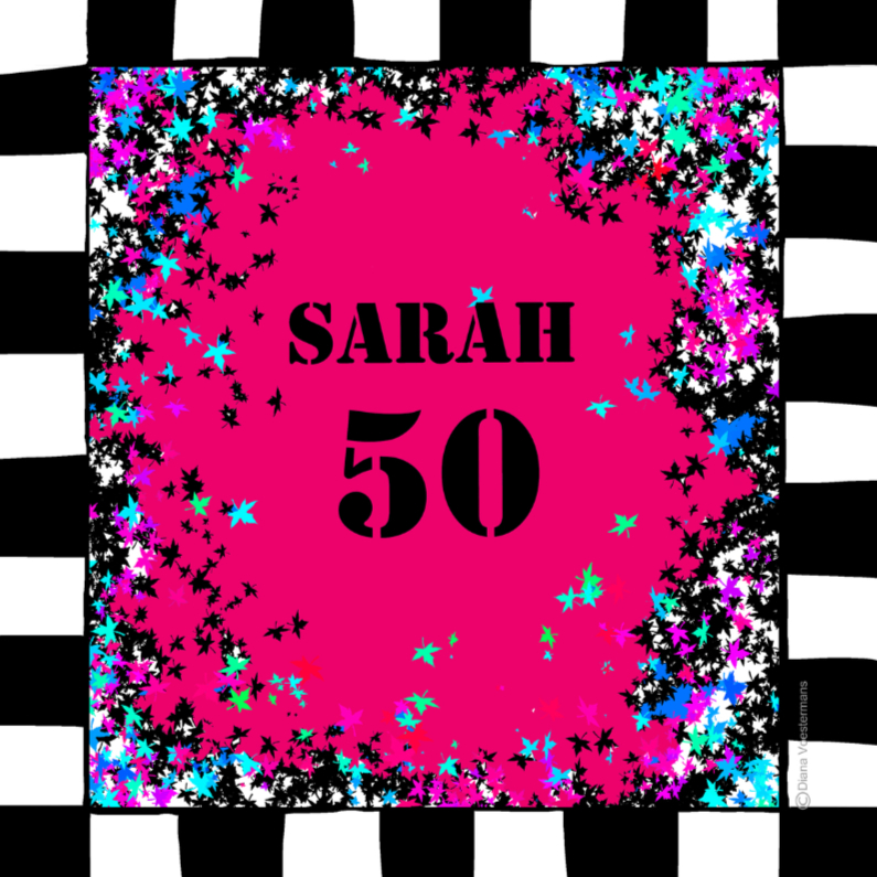 Verjaardagskaarten - SARAH 50 roze