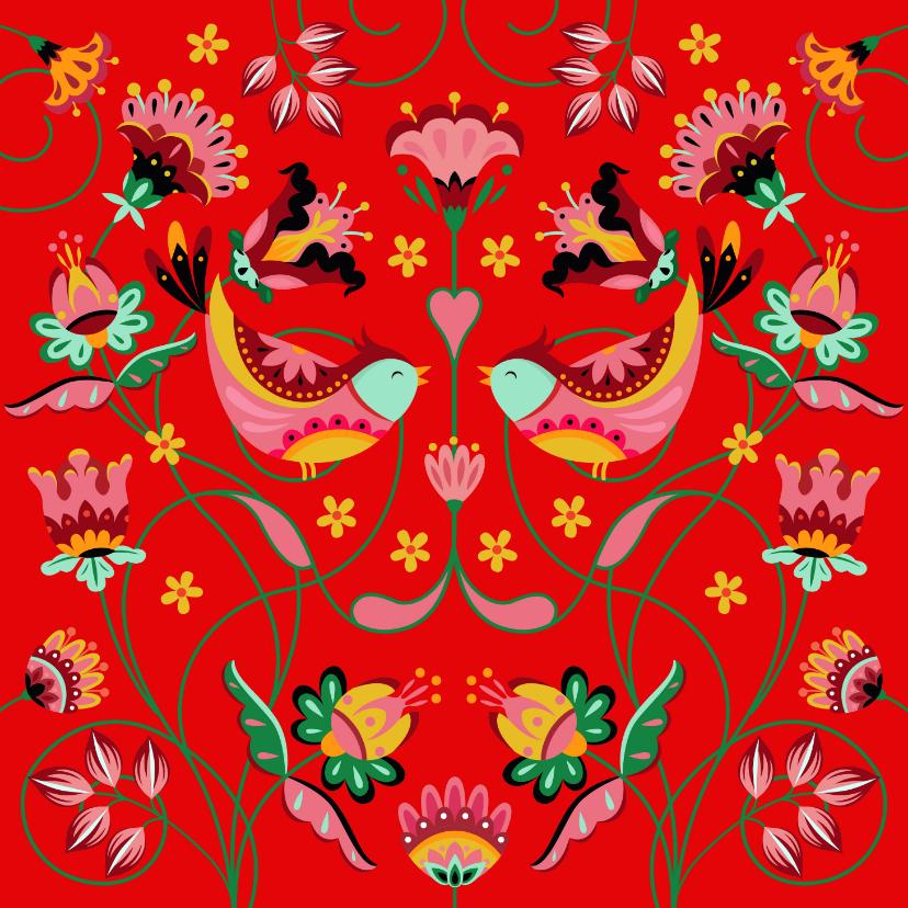 Verjaardagskaarten - Sierlijke en kleurrijke verjaardagskaart met bloemen