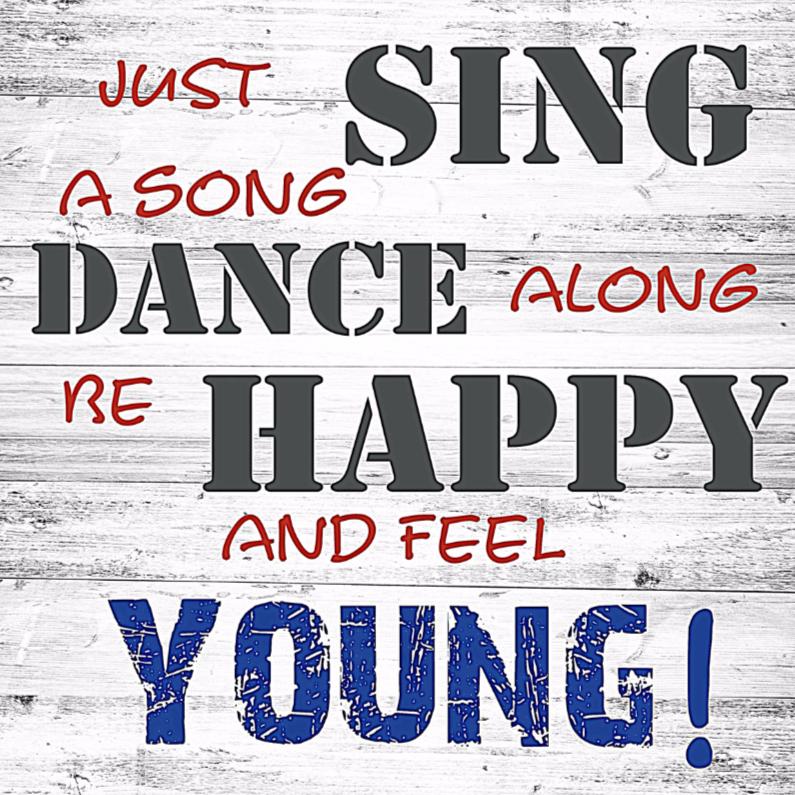 Verjaardagskaarten - sing-dance