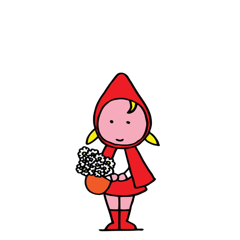 Verjaardagskaarten - sprookje roodkapje