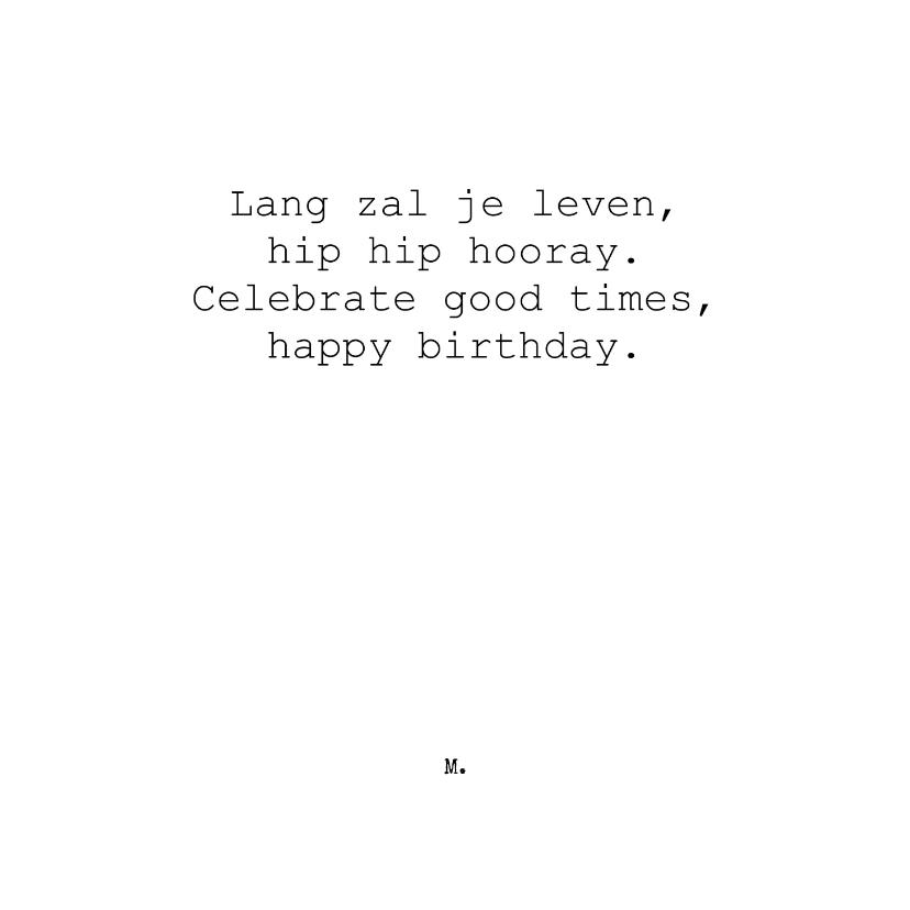 Verjaardagskaarten - Stijlvolle felicitatiekaart met gedicht