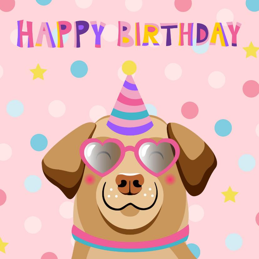 Verjaardagskaarten - Super coole verjaardagskaart hond