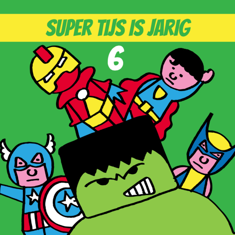 Verjaardagskaarten - superhelden jarig