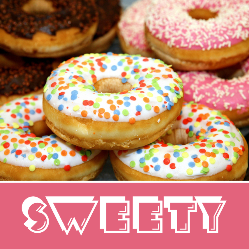 Verjaardagskaarten - Sweety - Donuts - OT