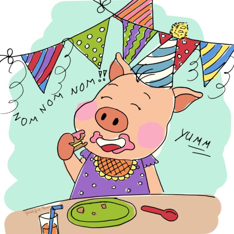 Verjaardagskaarten - 't Feest varken