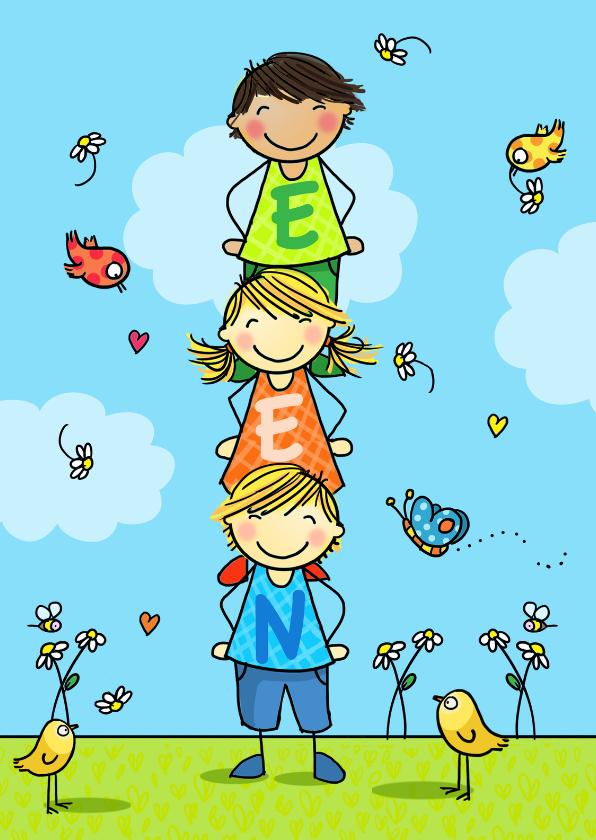 Verjaardagskaarten - T-SHIRT EEN
