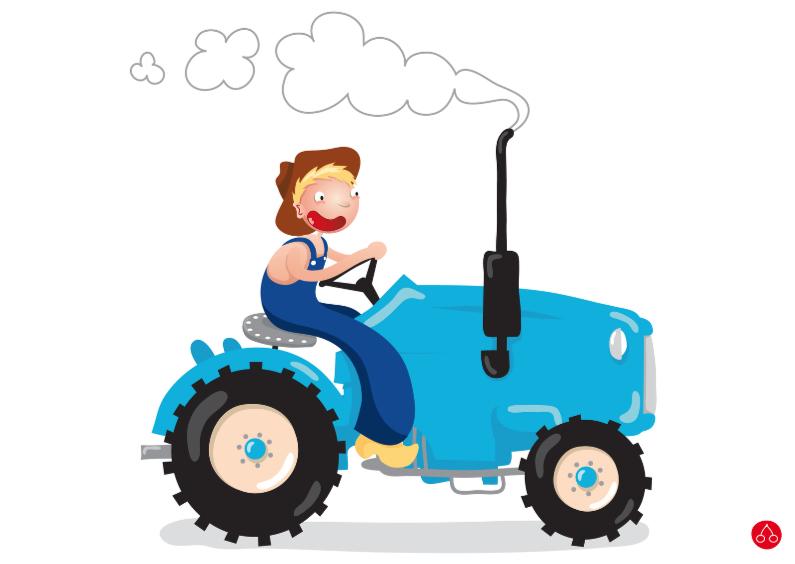 Verjaardagskaarten - Tractor