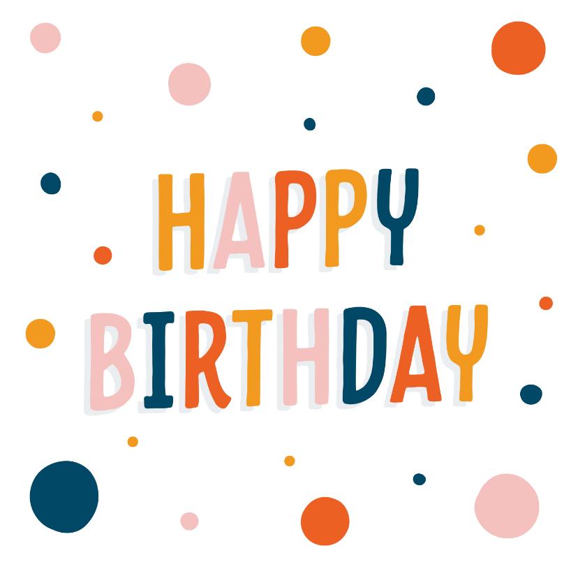 Verjaardagskaarten - Trendy verjaardagskaart met confetti