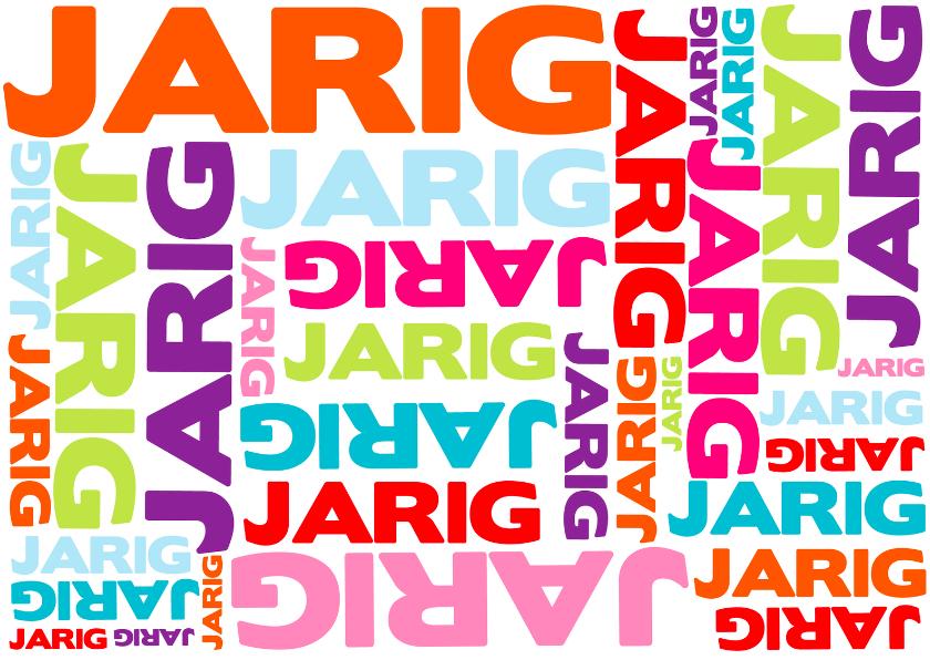 Verjaardagskaarten - Typografie Jarig Liggend