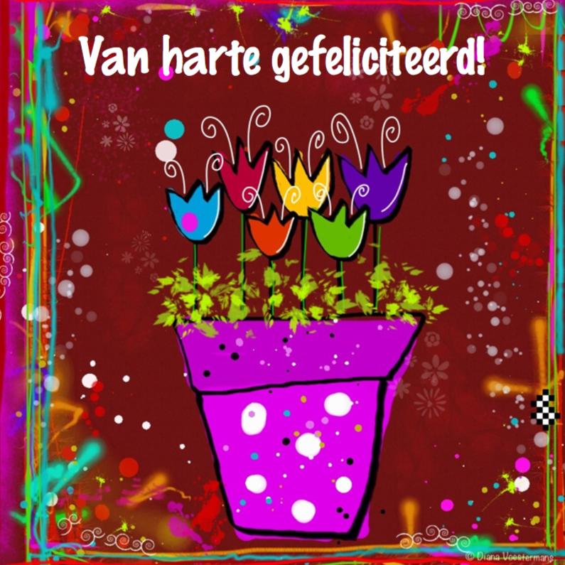 Verjaardagskaarten - Van harte gefeliciteerd CYL