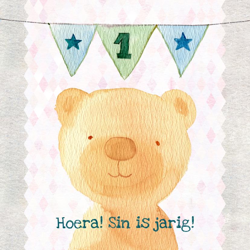 Verjaardagskaarten - Verjaardag 1 jaar, lief beertje