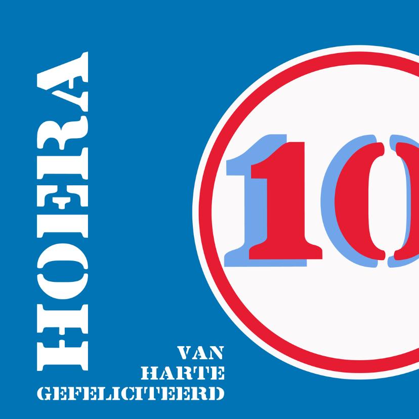 Verjaardagskaarten - Verjaardag 10 jaar felicitatiekaart