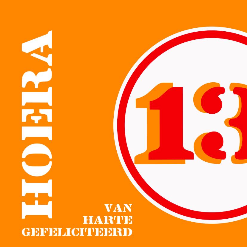 Verjaardagskaarten - Verjaardag 13 jaar felicitatiekaart