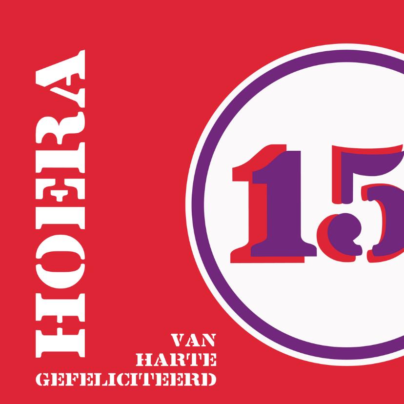 Felicitatiekaarten - Verjaardag 15 felicitatiekaart