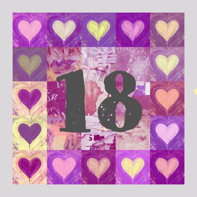 Verjaardagskaarten - Verjaardag 18 lief IW
