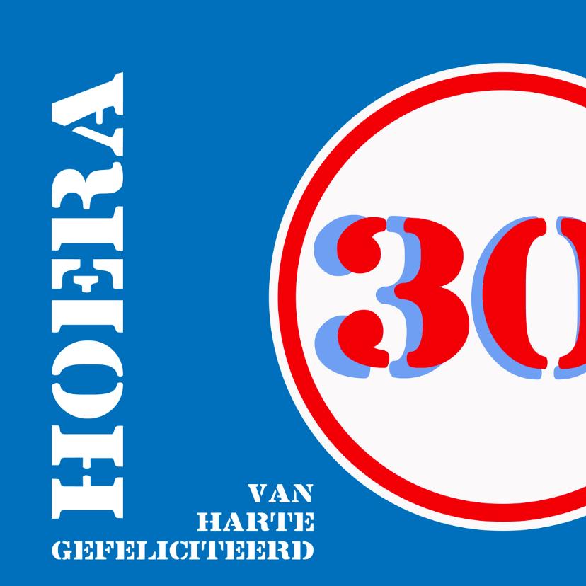 Verjaardagskaarten - Verjaardag 30 jaar felicitatiekaart
