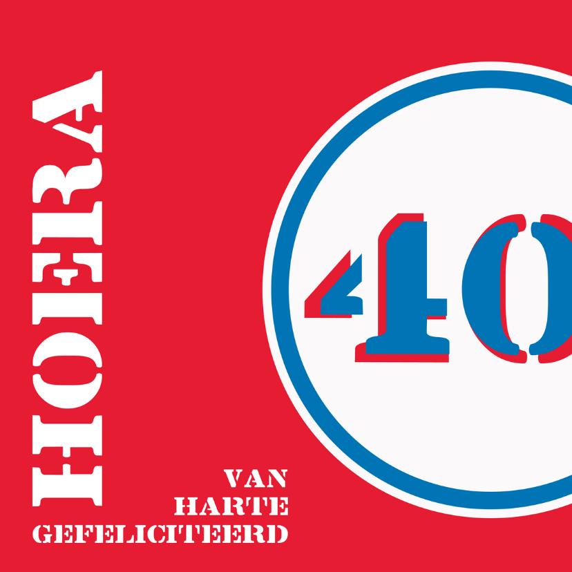Felicitatiekaarten - Verjaardag 40 jaar felicitatiekaart