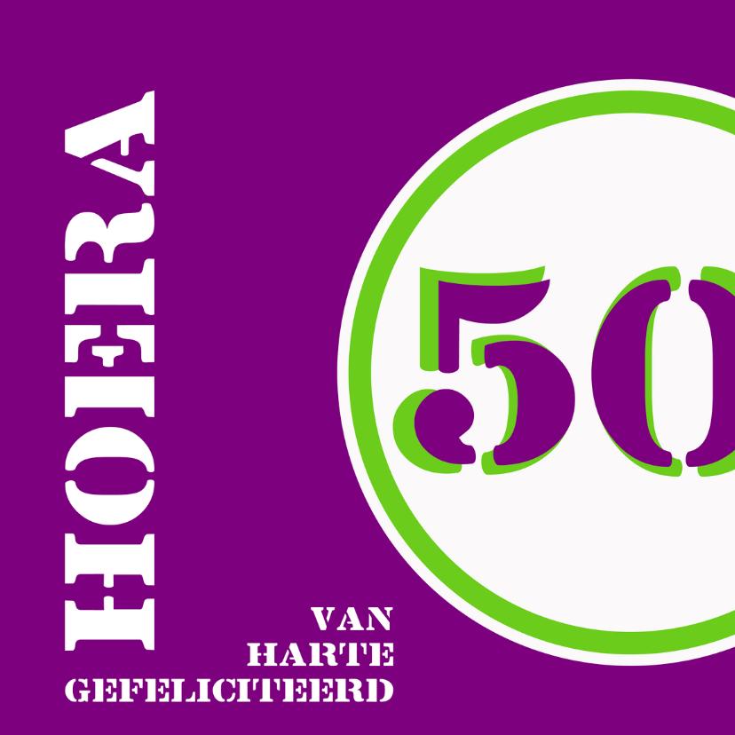 Verjaardagskaarten - Verjaardag 50 jaar felicitatiekaart
