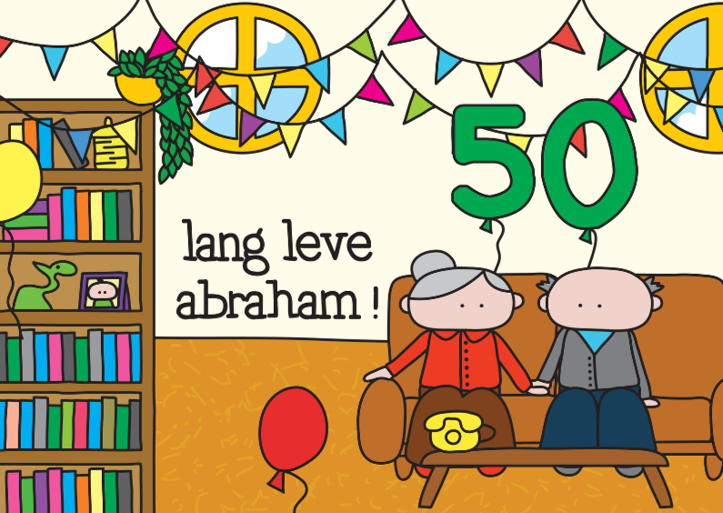 Verjaardagskaarten - Verjaardag Abraham 50 jaar