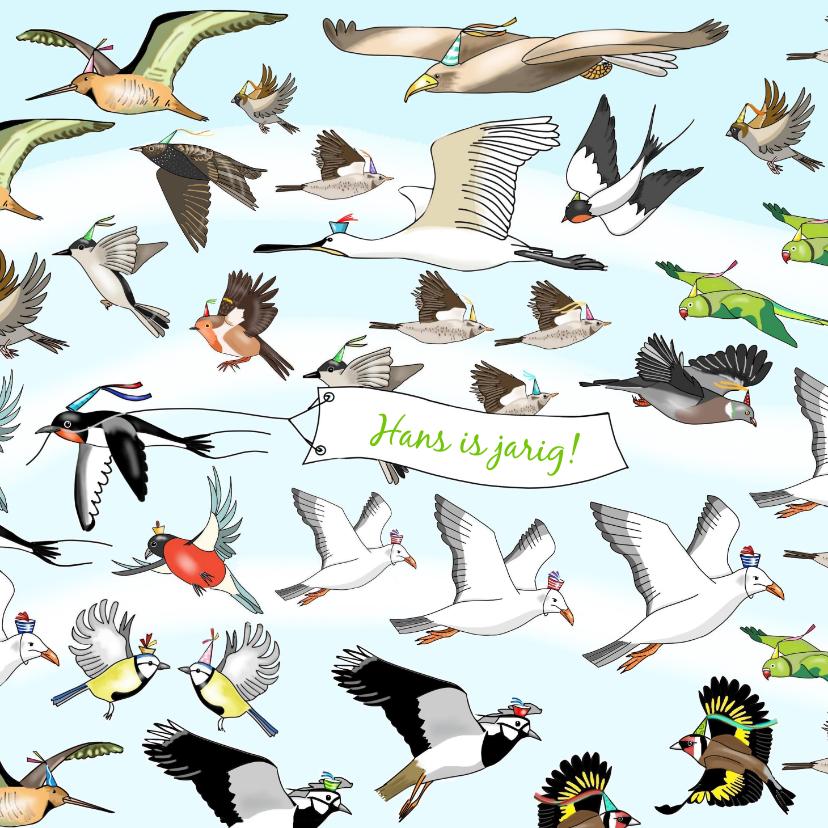 Verjaardagskaarten - Verjaardag - allemaal vogels