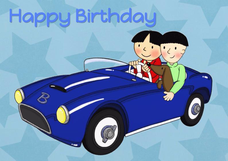 Verjaardagskaarten - Verjaardag Auto Jongens - TbJ