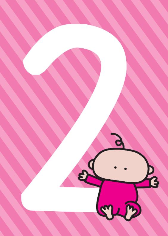 Verjaardagskaarten - Verjaardag Baby 2 jaar