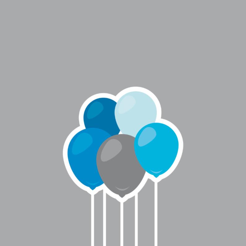 Verjaardagskaarten - verjaardag ballon 01