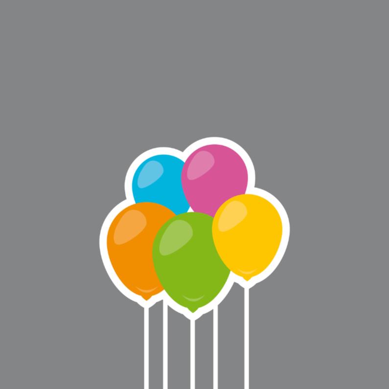 Verjaardagskaarten - verjaardag ballon 03