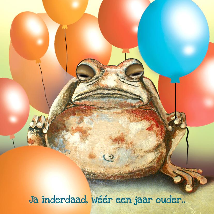 Verjaardagskaarten - Verjaardag Ballonnen en Brompad